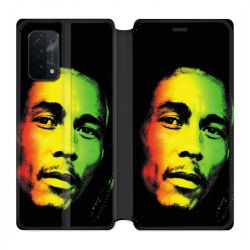 Housse cuir portefeuille Pour Oppo A54 5G / A74 5G Bob Marley 2