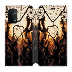 Housse cuir portefeuille Pour Oppo A54 5G / A74 5G Attrape Reve Noir