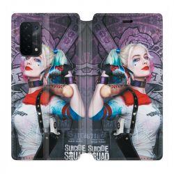 Housse cuir portefeuille Pour Oppo A54 5G / A74 5G Harley Quinn Batte