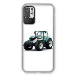 Coque Pour Xiaomi Redmi Note 10 5G Agriculture Tracteur Blanc