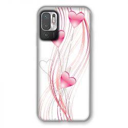 Coque Pour Xiaomi Redmi Note 10 5G Coeur Rose Montant sur Blanc