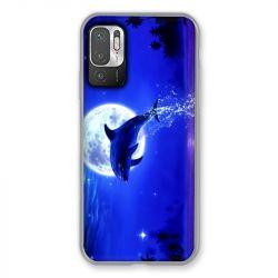 Coque Pour Xiaomi Redmi Note 10 5G Dauphin Lune