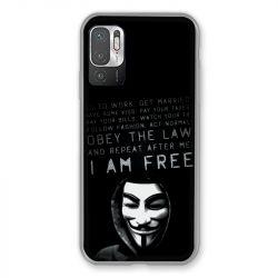 Coque Pour Xiaomi Redmi Note 10 5G Anonymous I am free