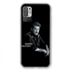 Coque Pour Xiaomi Redmi Note 10 5G Johnny Hallyday Noir
