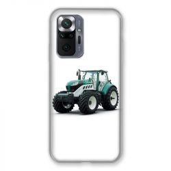 Coque Pour Xiaomi Redmi Note 10 Pro 5G Agriculture Tracteur Blanc