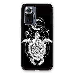 Coque Pour Xiaomi Redmi Note 10 Pro 5G Animaux Maori Tortue Noir