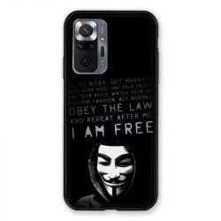 Coque Pour Xiaomi Redmi Note 10 Pro 5G Anonymous I am free