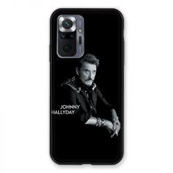 Coque Pour Xiaomi Redmi Note 10 Pro 5G Johnny Hallyday Noir