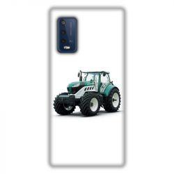 Coque Pour Wiko Power U10 / U20 Agriculture Tracteur Blanc