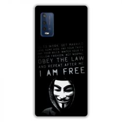 Coque Pour Wiko Power U10 / U20 Anonymous I am free