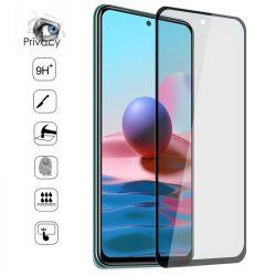 Vitre protection / Verre trempé 3D privé anti espion pour Xiaomi Redmi Note 10 PRO 5G