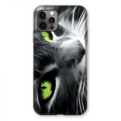 Coque Pour Iphone 13 (6.1) Chat Vert