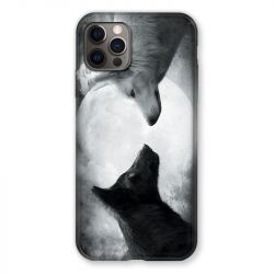 Coque Pour Iphone 13 (6.1) Loup Duo