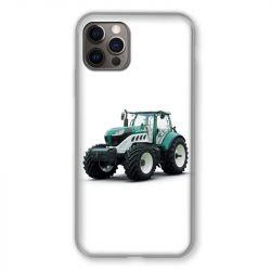 Coque Pour Iphone 13 MINI (5.4) Agriculture Tracteur Blanc