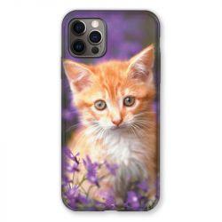 Coque Pour Iphone 13 MINI (5.4) Chat Violet
