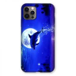 Coque Pour Iphone 13 MINI (5.4) Dauphin Lune