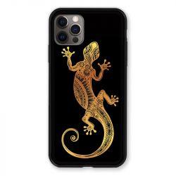 Coque Pour Iphone 13 MINI (5.4) Animaux Maori Lezard Noir
