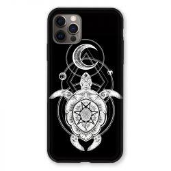 Coque Pour Iphone 13 MINI (5.4) Animaux Maori Tortue Noir