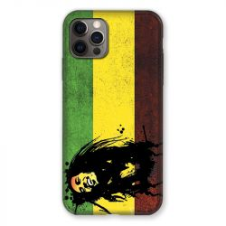 Coque Pour Iphone 13 MINI (5.4) Bob Marley Drapeau