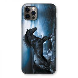 Coque Pour Iphone 13 PRO Cheval Noir