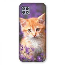 Coque Pour Samsung Galaxy A22 5G Chat Violet