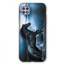 Coque Pour Samsung Galaxy A22 5G Cheval Noir