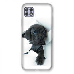 Coque Pour Samsung Galaxy A22 5G Chien Noir