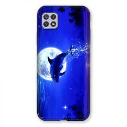 Coque Pour Samsung Galaxy A22 5G Dauphin Lune