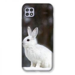 Coque Pour Samsung Galaxy A22 5G Lapin Blanc