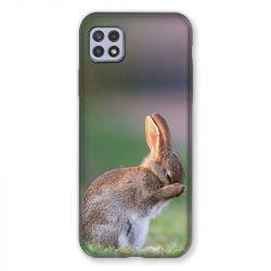 Coque Pour Samsung Galaxy A22 5G Lapin Marron