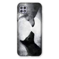 Coque Pour Samsung Galaxy A22 5G Loup Duo