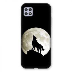 Coque Pour Samsung Galaxy A22 5G Loup Noir