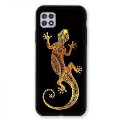 Coque Pour Samsung Galaxy A22 5G Animaux Maori Lezard Noir