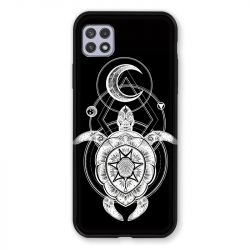 Coque Pour Samsung Galaxy A22 5G Animaux Maori Tortue Noir