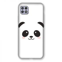 Coque Pour Samsung Galaxy A22 5G Panda Blanc