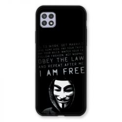 Coque Pour Samsung Galaxy A22 5G Anonymous I am free