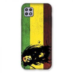 Coque Pour Samsung Galaxy A22 5G Bob Marley Drapeau