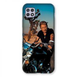 Coque Pour Samsung Galaxy A22 5G Johnny Hallyday Moto