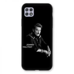 Coque Pour Samsung Galaxy A22 5G Johnny Hallyday Noir