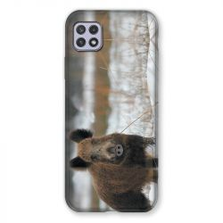 Coque Pour Samsung Galaxy A22 5G Chasse Sanglier Neige