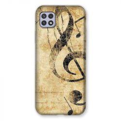 Coque Pour Samsung Galaxy A22 5G Musique Clé Sol Vintage