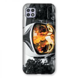 Coque Pour Samsung Galaxy A22 5G Pompier Casque Feu