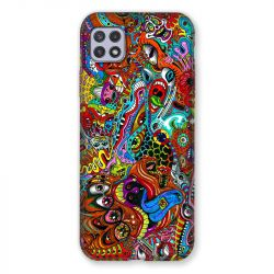 Coque Pour Samsung Galaxy A22 5G Psychedelic Yeux