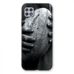 Coque Pour Samsung Galaxy A22 5G Rugby Ballon Vintage