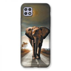 Coque Pour Samsung Galaxy A22 5G Savane Elephant Route