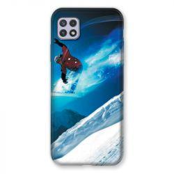 Coque Pour Samsung Galaxy A22 5G Snowboard Saut