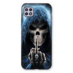 Coque Pour Samsung Galaxy A22 5G Tete de Mort Doigt