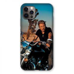 Coque Pour Iphone 13 MINI (5.4) Johnny Hallyday Moto