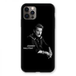 Coque Pour Iphone 13 PRO Johnny Hallyday Noir