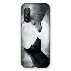 Coque Pour Sony Xperia 10 III (3) Loup Duo